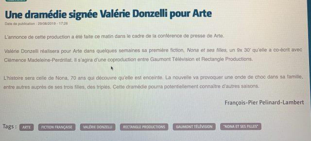 """""""Nona et ses filles"""" entre en préparation !"""